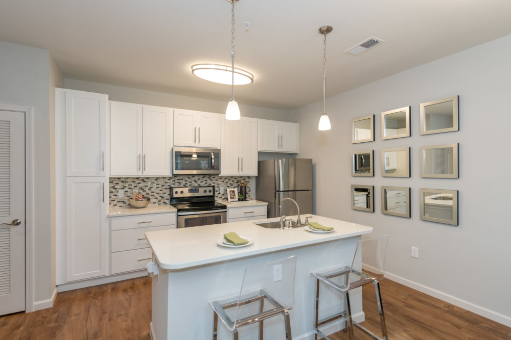 Modern kitchen at Silver Collection at Carl D. Silver Parkway in Fredericksburg, Virginia