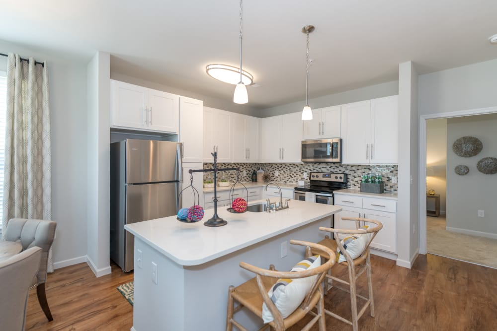 Open kitchen at Silver Collection at Carl D. Silver Parkway in Fredericksburg, Virginia