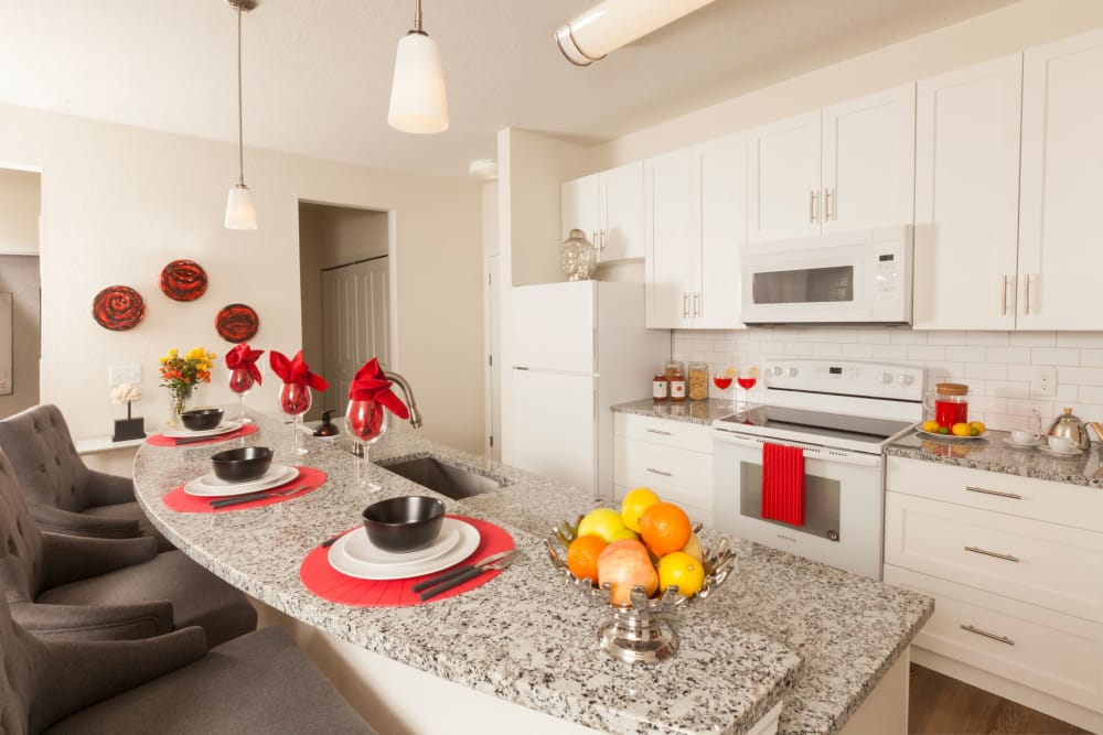 Breakfast bar at apartments in Riverview