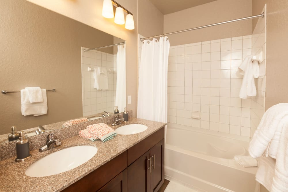 Example bathroom at apartments in Riverview