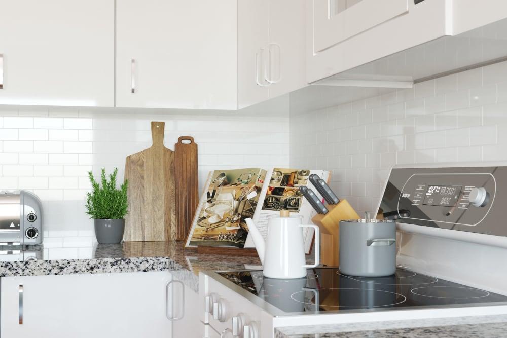 Sleek kitchen at Lola Apartments in Riverview, Florida