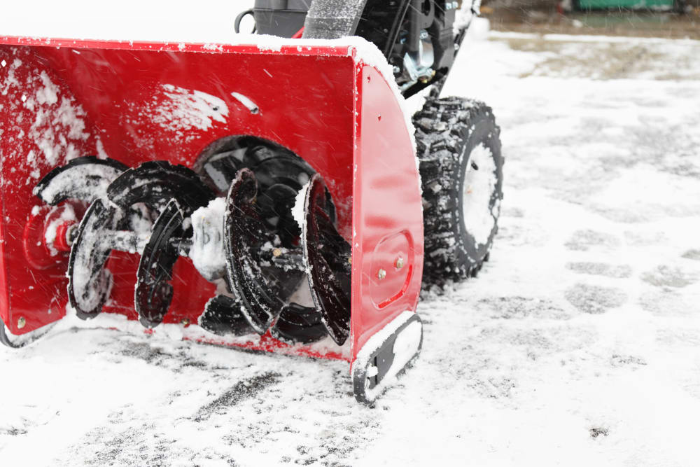 Snowblower at Summit Self-Storage in Victor, Idaho