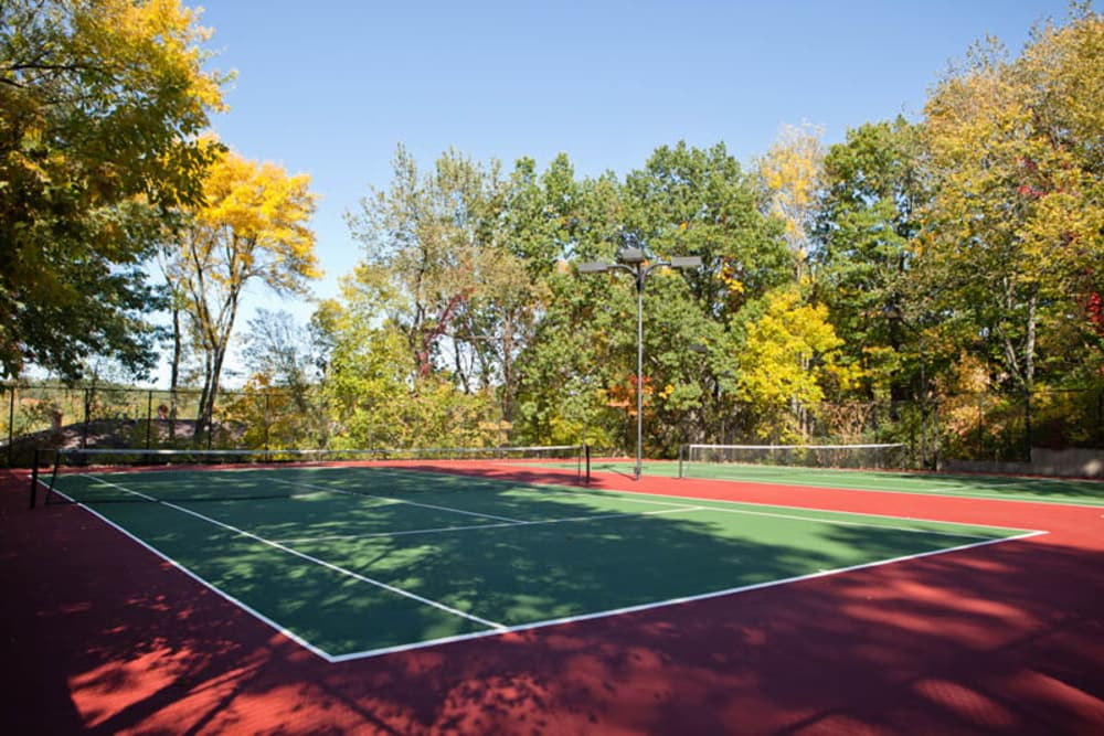 Tennis court at Windsor on the River in Cedar Rapids, Iowa