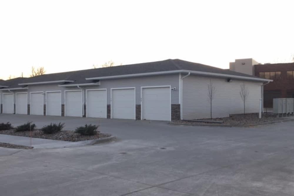 Garages at Johnson Gardens in Johnston, Iowa
