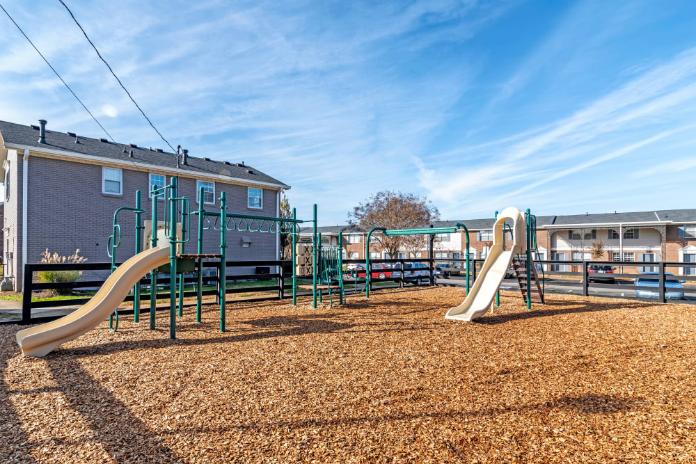 Onsite playground at Audubon Park in Nashville, Tennessee
