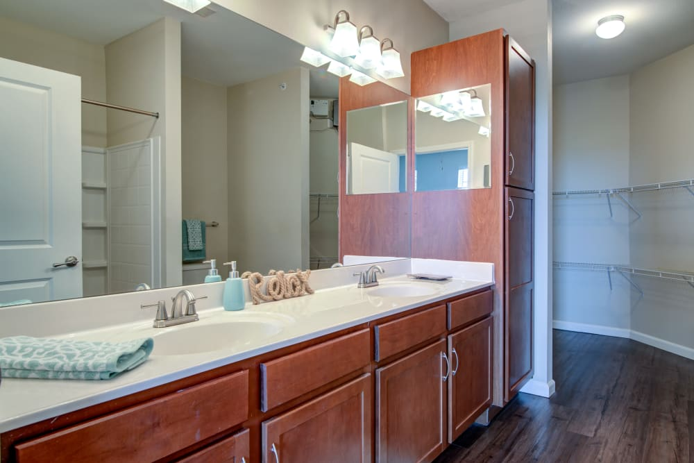 Spacious bathroom at Cantare at Indian Lake Village in Hendersonville, Tennessee