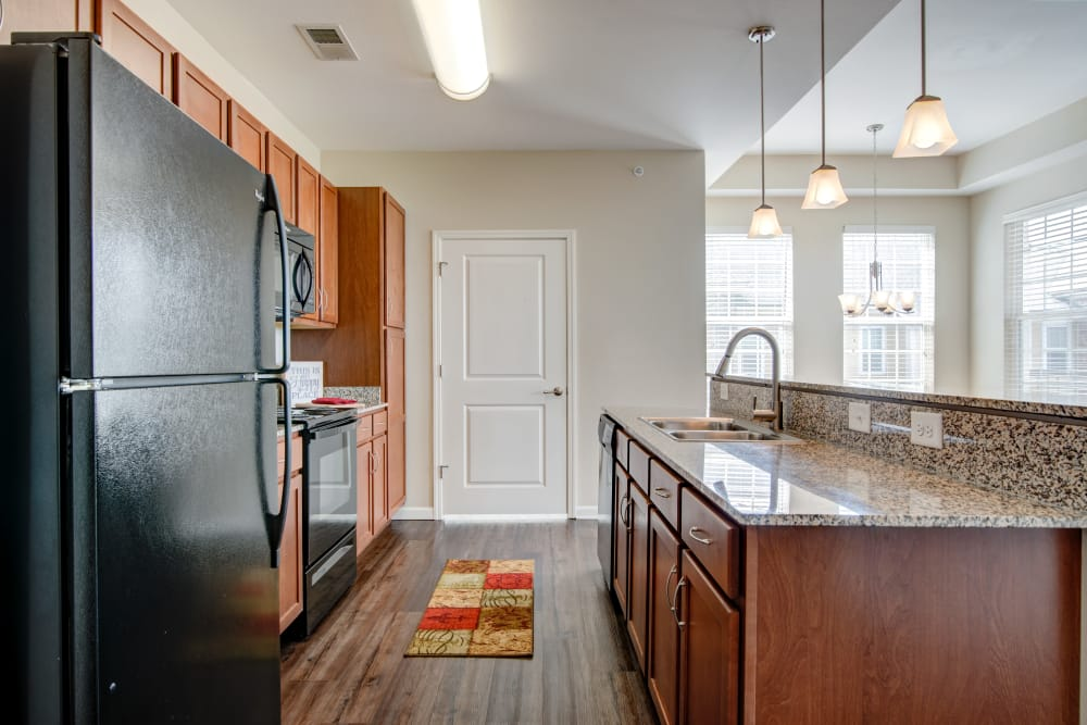 Fully-equipped kitchen at Cantare at Indian Lake Village in Hendersonville, Tennessee