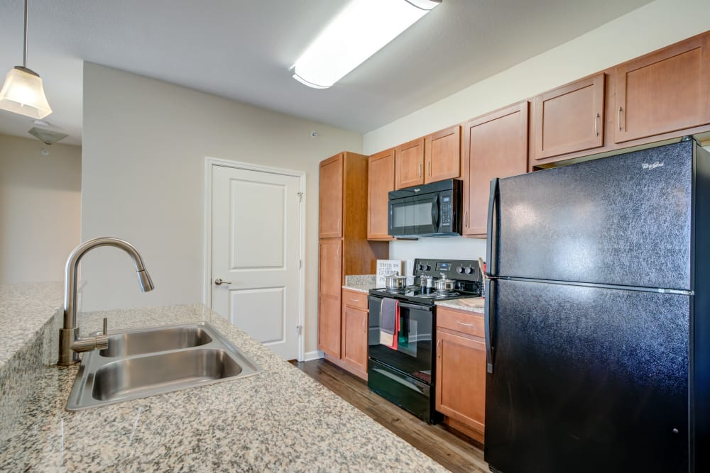 Modern kitchen at Cantare at Indian Lake Village in Hendersonville, Tennessee