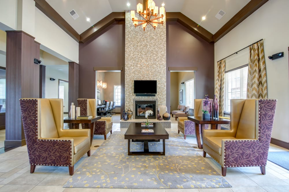 Interior of the modern Cantare at Indian Lake Village clubhouse in Hendersonville, Tennessee