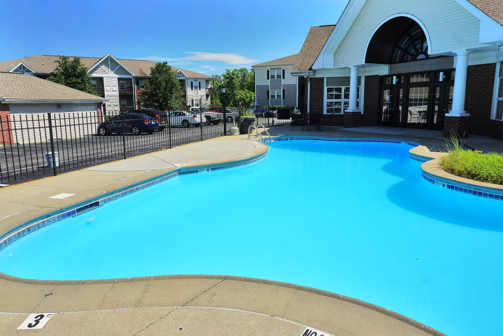 Gorgeous swimming pool area at Renaissance St. Andrews in Louisville, Kentucky