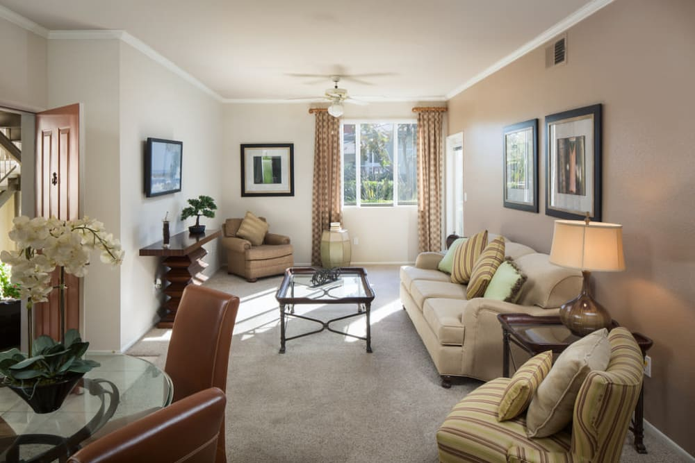 Living Room at Alicante Apartments in Aliso Viejo