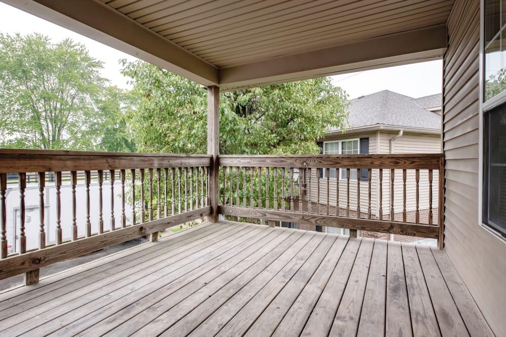 Balcony view at Cooper Creek in Louisville, Kentucky
