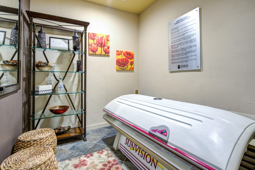 Grayson Ridge offers a tanning room in North Richland Hills, Texas