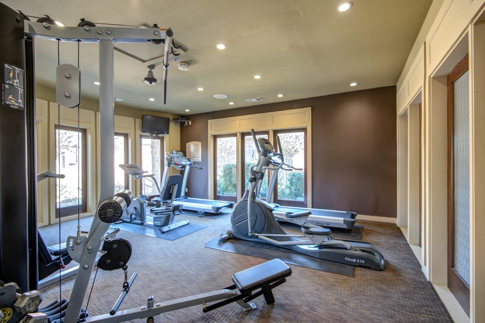 Stay healthy in the Grayson Ridge fitness center in North Richland Hills, Texas