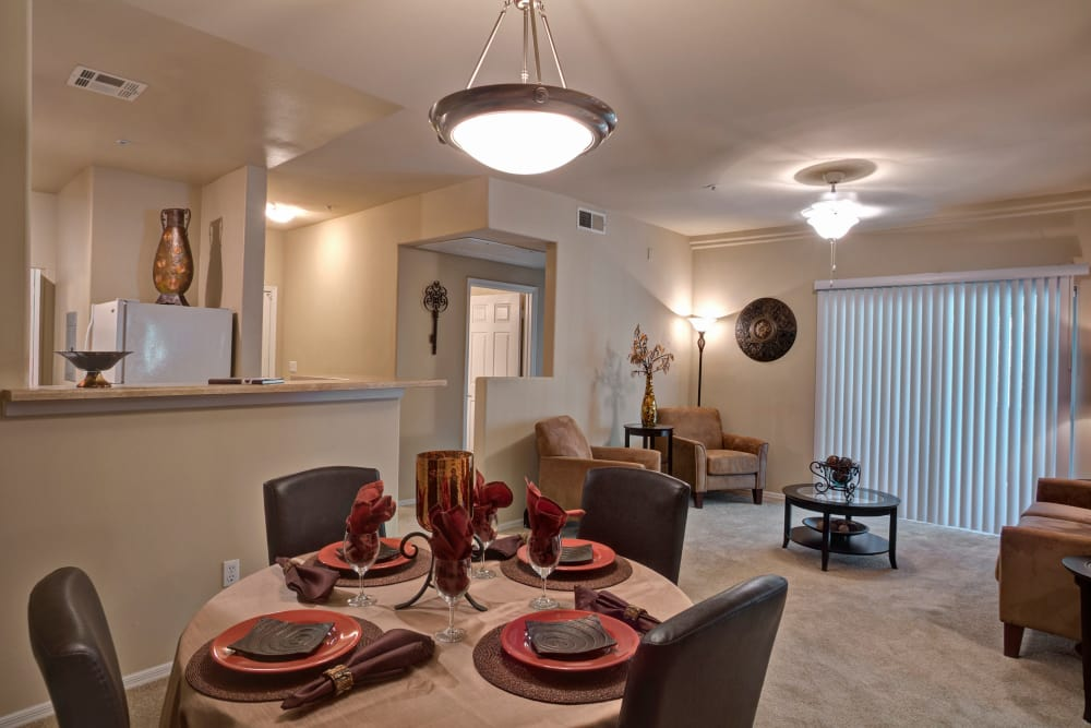 Beautiful open-concept floor plan in model home at The Regents at Scottsdale in Scottsdale, Arizona