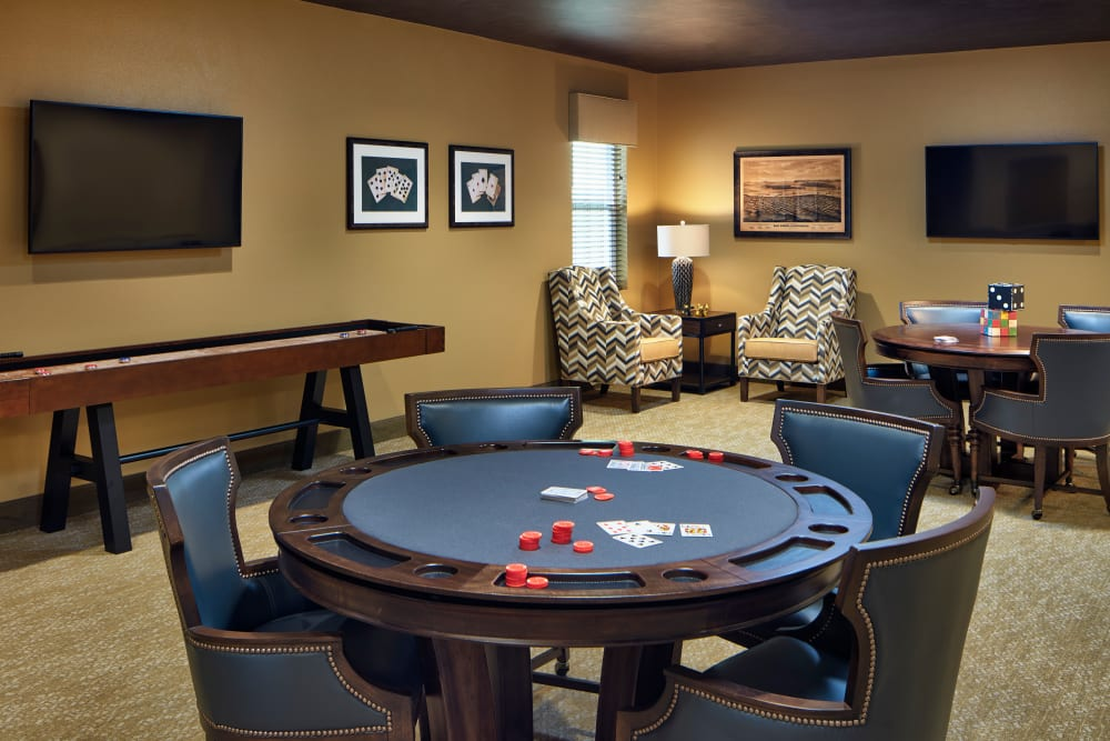 Card room at Sienna at Otay Ranch