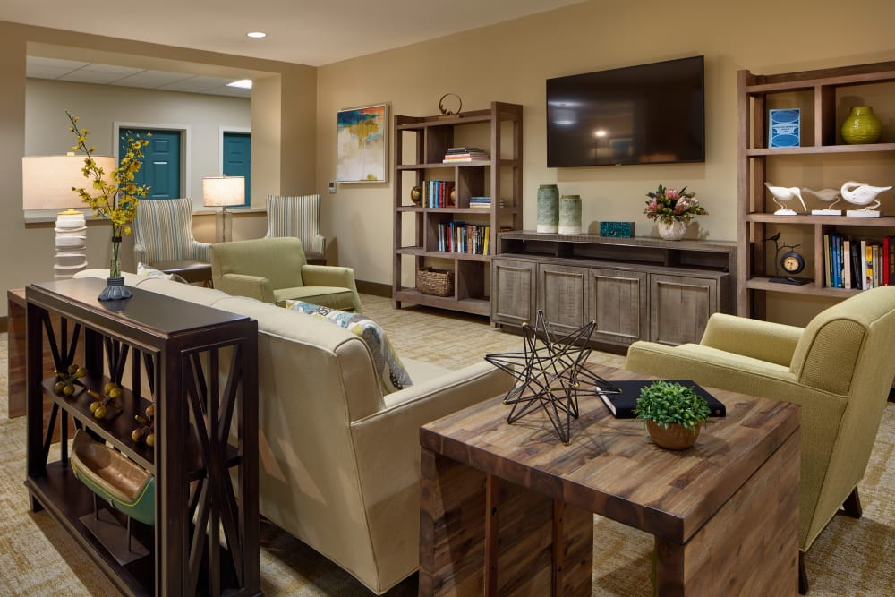 TV room at Sienna at Otay Ranch