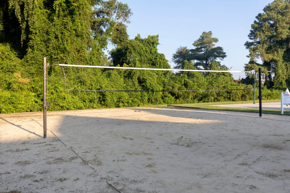 Sand volleyball area at The Flatts Salisbury in Salisbury, Maryland
