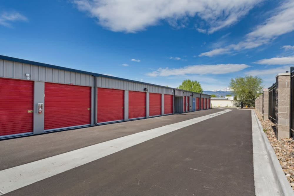 Drive-up units at Smart Space Self Storage - Colorado Springs in Colorado Springs, Colorado
