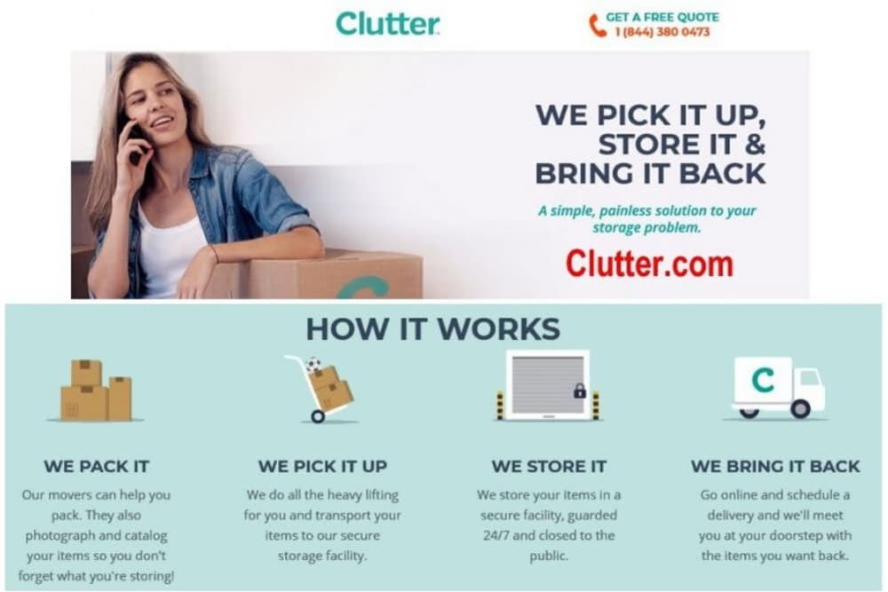 Clutter service offered at Smart Space Self Storage - Colorado Springs in Colorado Springs, Colorado
