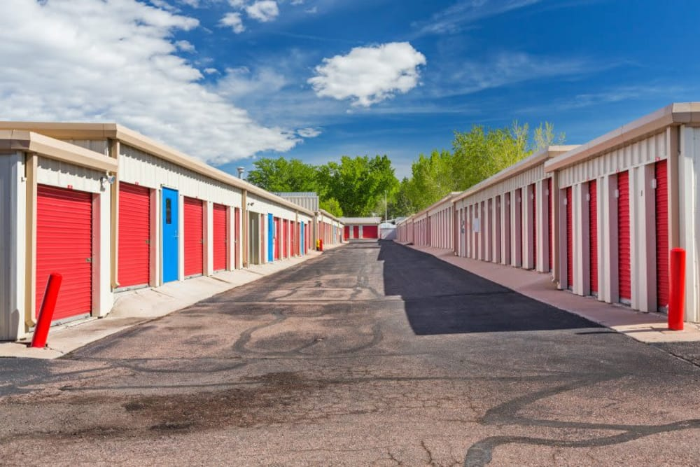 Wide driveways at Smart Space Self Storage - Colorado Springs in Colorado Springs, Colorado