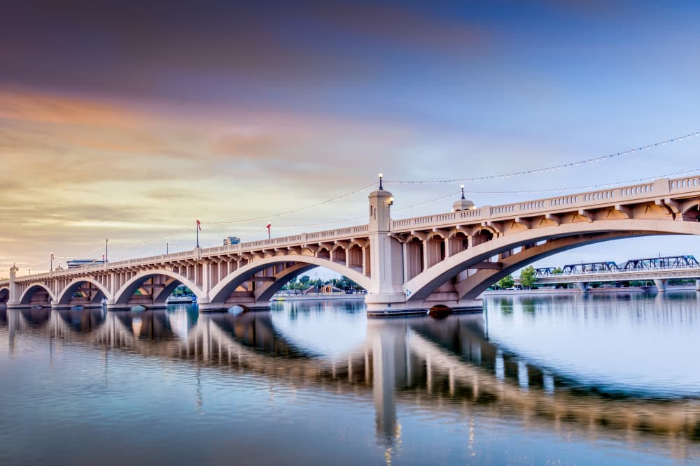 View of one of the bridges near The Local Apartments in Tempe, Arizona