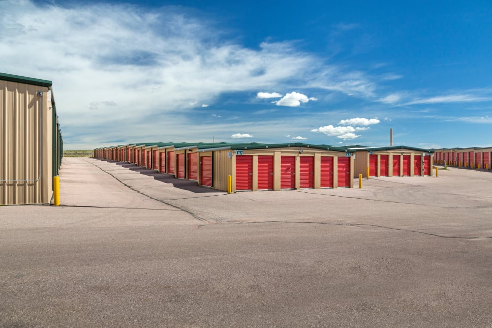 Drive-up units at Smart Space Self Storage - Stetson Hills in Colorado Springs, Colorado