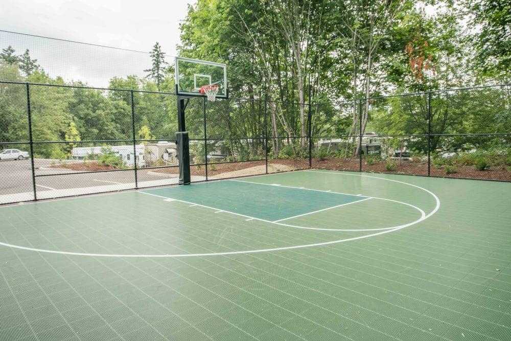 Basketball court at River Ridge Apartments in Tualatin, Oregon