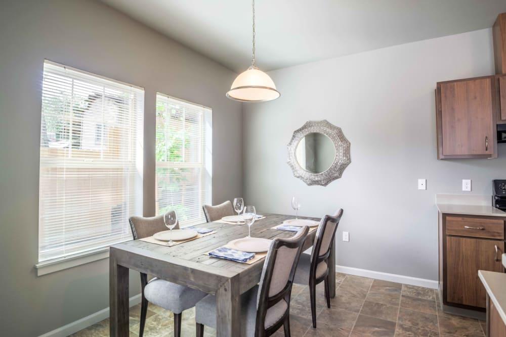 Dining room table at River Ridge Apartments in Tualatin, Oregon