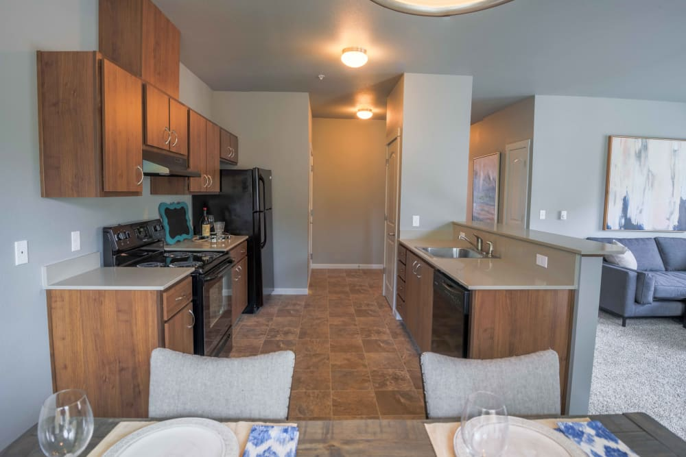 Open floor plans at River Ridge Apartments in Tualatin, Oregon