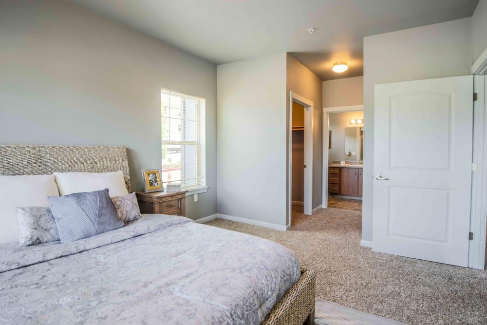 Beautiful bedroom at River Ridge Apartments in Tualatin, Oregon
