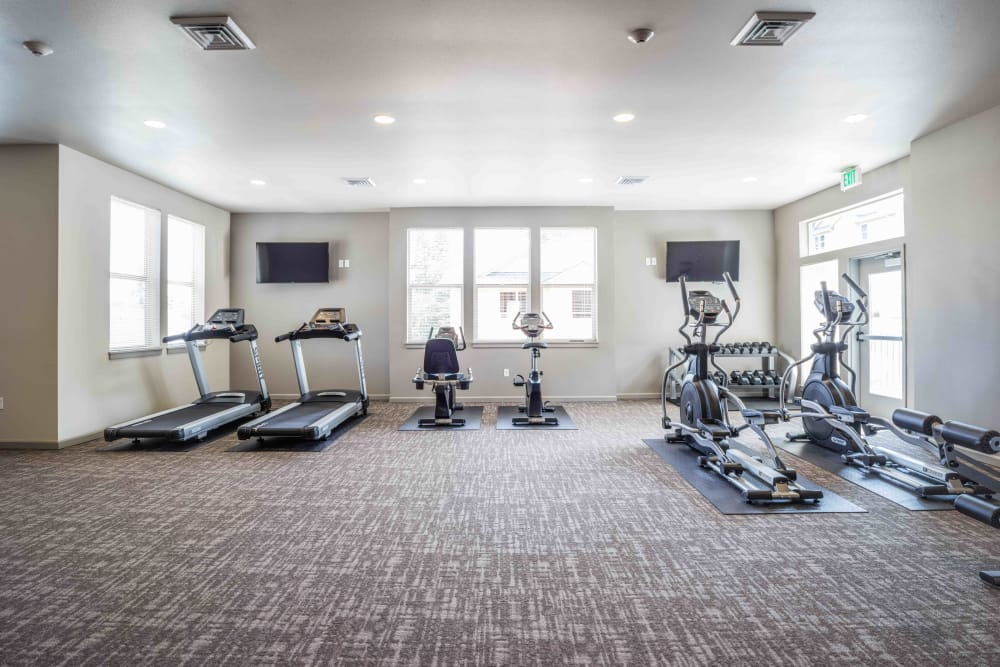 Fitness center for residents at River Ridge Apartments in Tualatin, Oregon