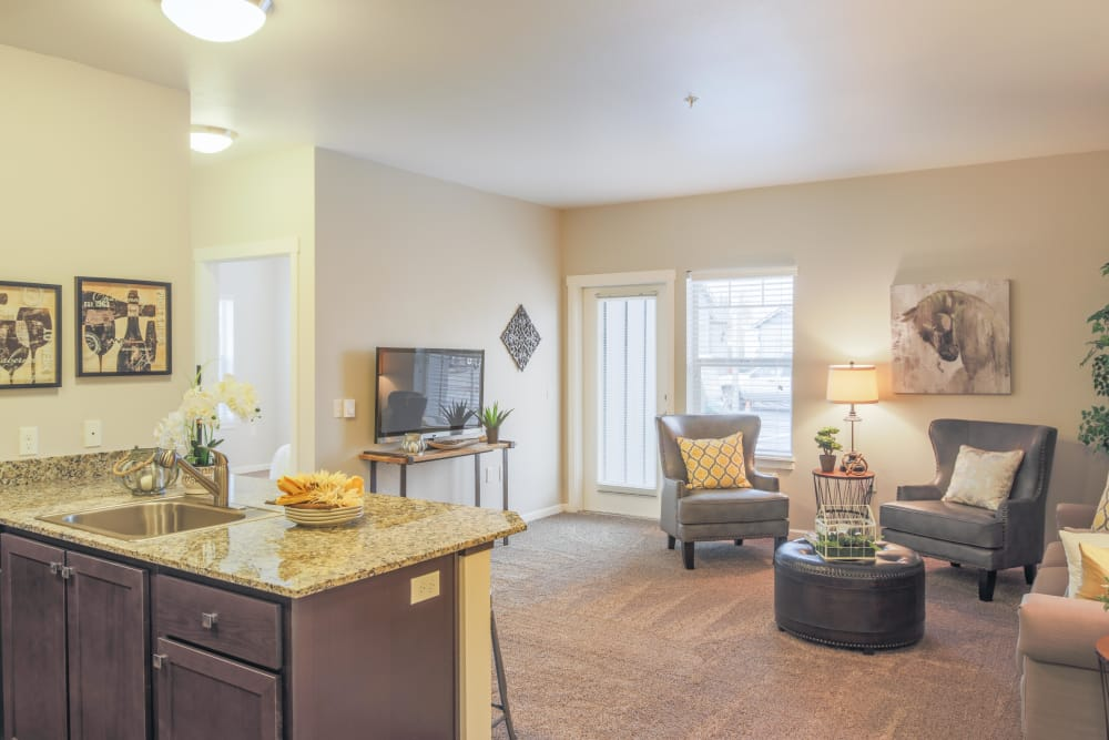 Open floor plans at Keizer Station Apartments in Keizer, Oregon
