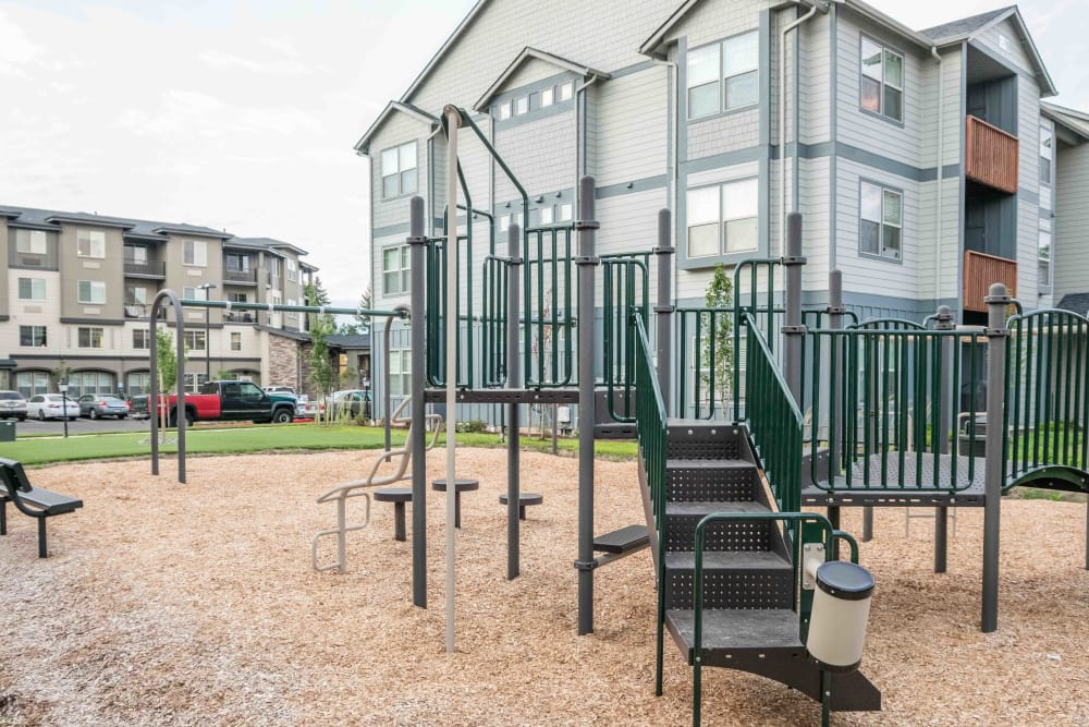 Play structure at Keizer Station Apartments in Keizer, Oregon