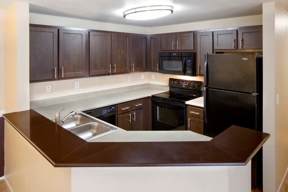 Enjoy a luxury kitchen at Centro Apartment Homes in Hillsboro, Oregon