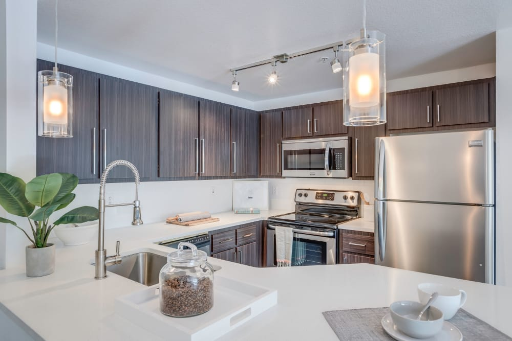 Centro Apartment Homes offers a state-of-the-art kitchen in Hillsboro, Oregon