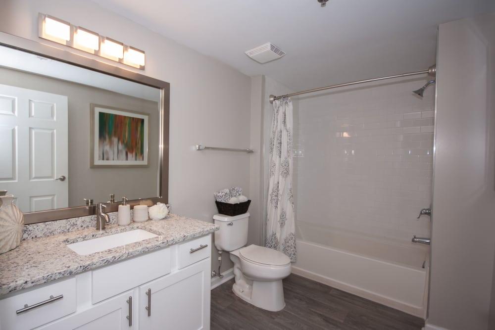 Beautiful bathroom at The Eva in Sandy Springs, Georgia