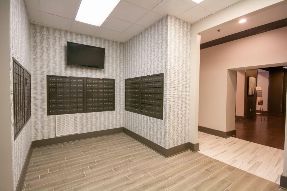 Mail room at The Eva in Sandy Springs, Georgia