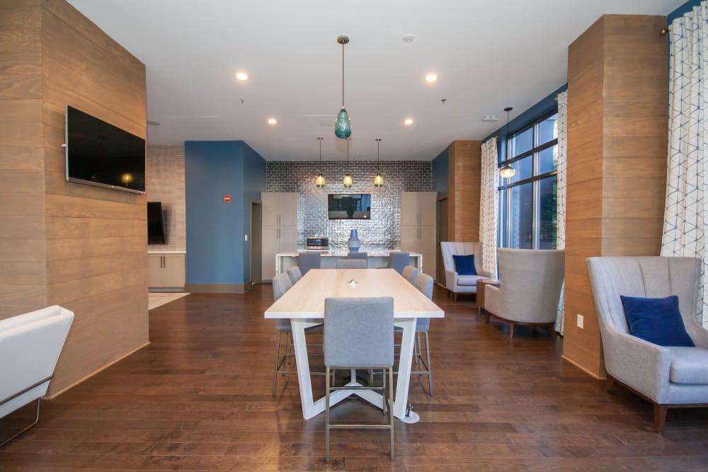Beautiful living space at The Eva in Sandy Springs, Georgia