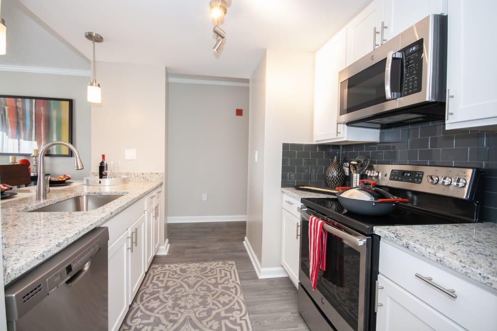 Beautiful kitchen at The Eva in Sandy Springs, Georgia