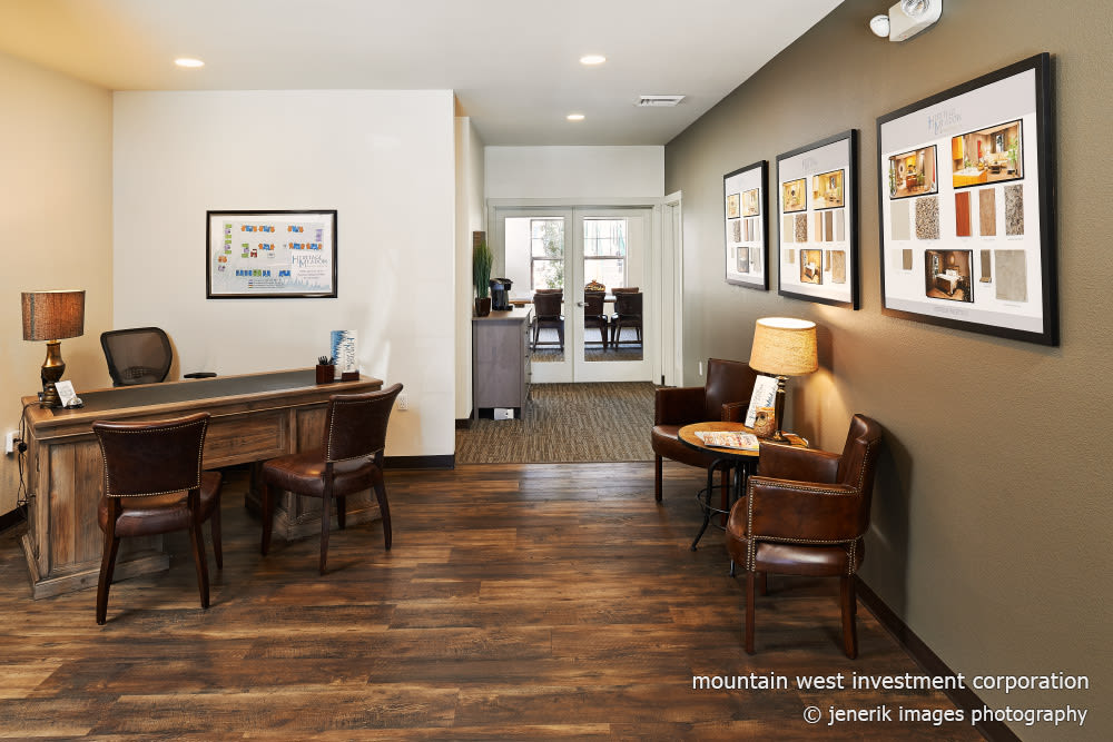 Main office lobby at Heritage Meadow Apartments in Eugene, Oregon
