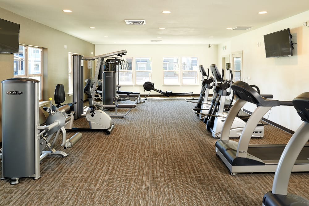 Fitness center for residents at Heritage Meadow Apartments in Eugene, Oregon