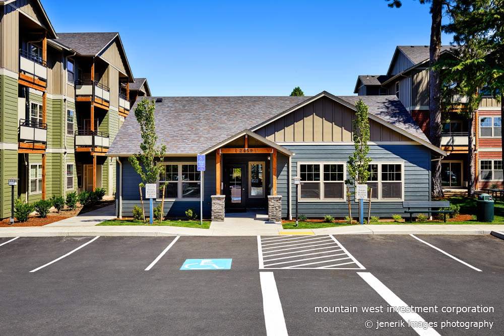 Leasing office at Heritage Meadow Apartments in Eugene, Oregon