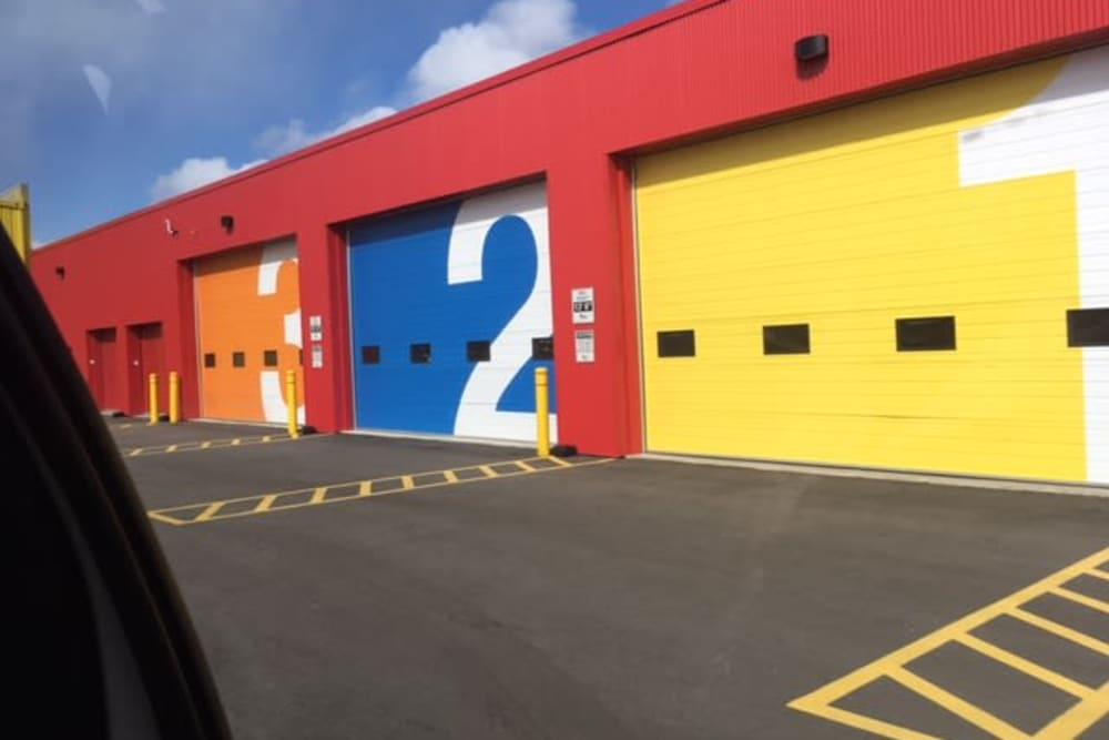 Large loading bays at Apple Self Storage - Oakville in Oakville, Ontario
