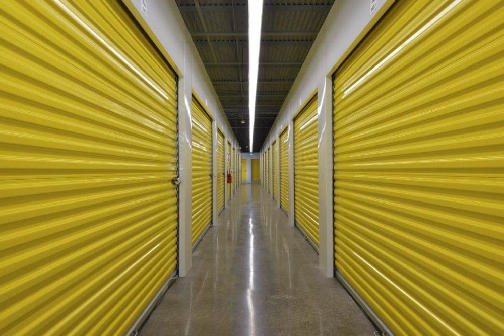 Well-lit interior units at Apple Self Storage - Oakville in Oakville, Ontario