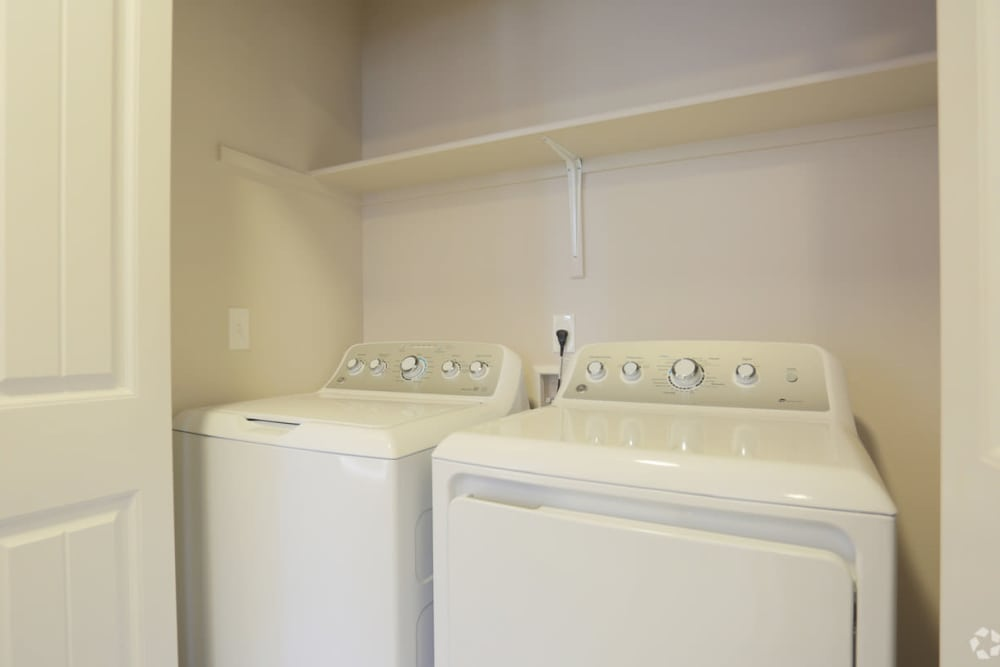 Laundry closet at The Fairway Apartments in Salem, Oregon