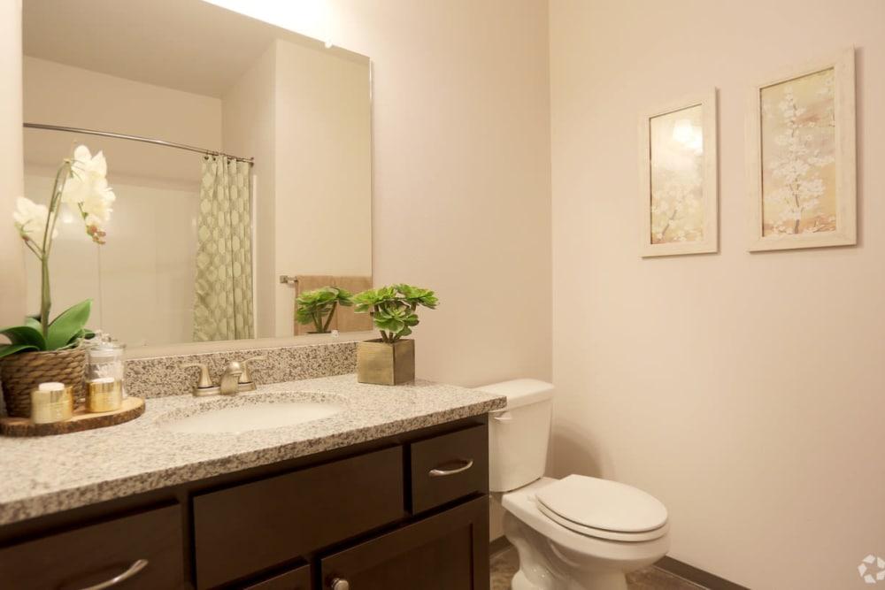Bright bathroom at The Fairway Apartments in Salem, Oregon