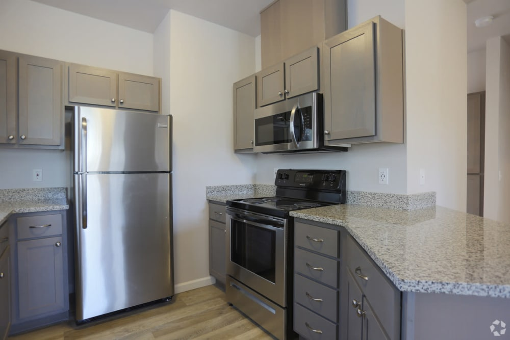 Fully equipped kitchen at The Fairway Apartments in Salem, Oregon