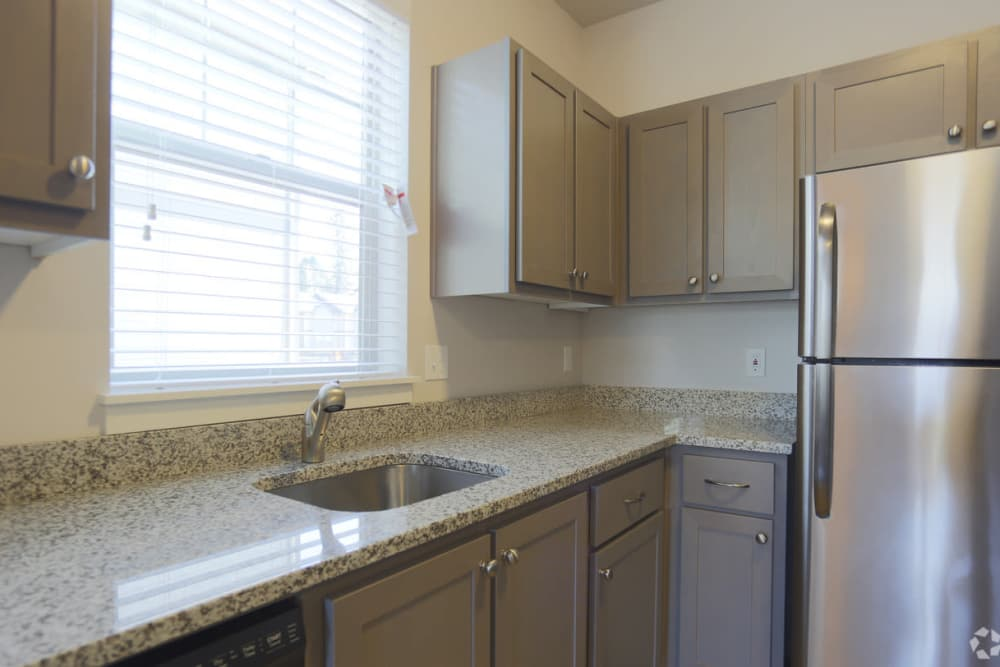 Kitchen with ample counter space at The Fairway Apartments in Salem, Oregon