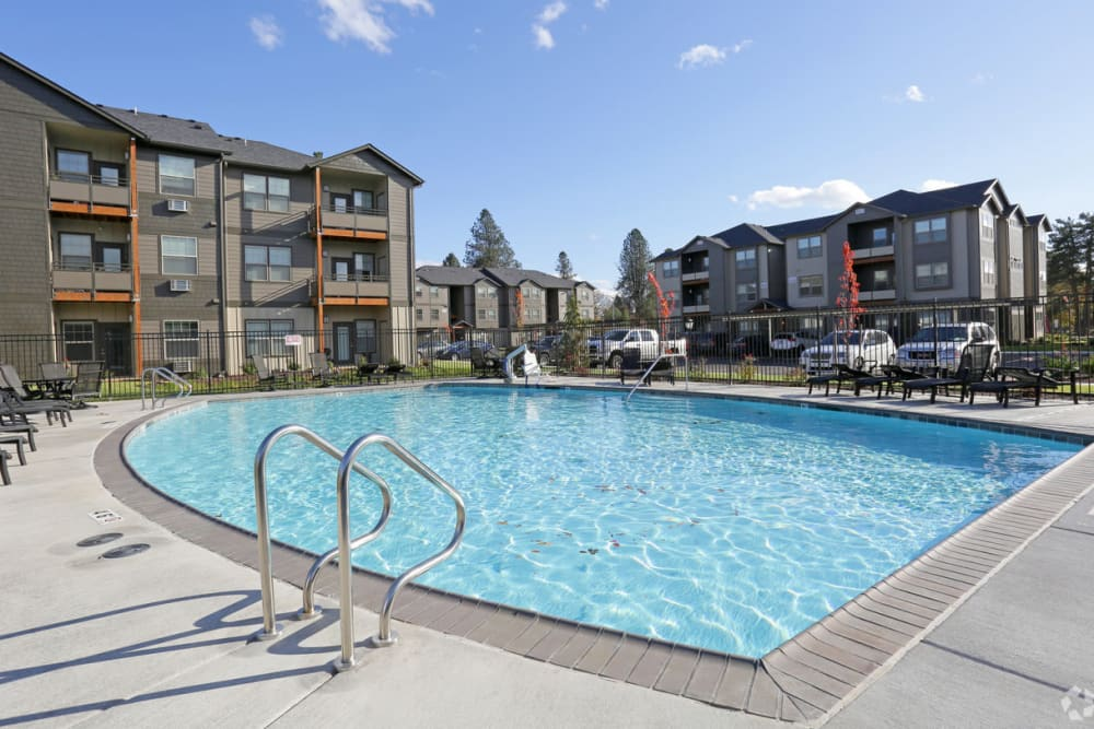 Resort style pool at The Fairway Apartments in Salem, Oregon